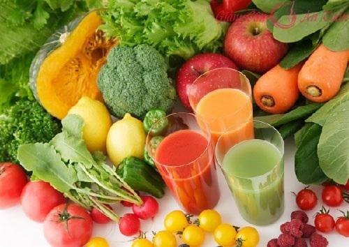 Giảm mỡ bụng dưới từ rau xanh và hoa quả. Ảnh: Internet